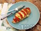 Рецепта Пилешки гърди пълнени с домати и сирене моцарела запечени на фурна